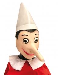 Pinocchio™-Maske für Fasching Accessoire für Erwachsene beigefarben