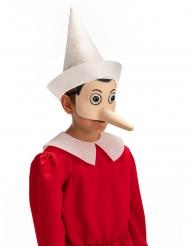 Pinocchio™-Augenmaske Kostüm-Accessoire für Kinder Fasching beigefarben