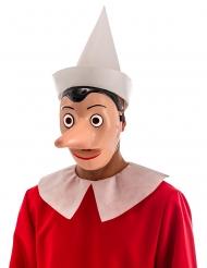 Pinocchio™-Maske mit abnehmbarer Nase für Erwachsene  beigefarben