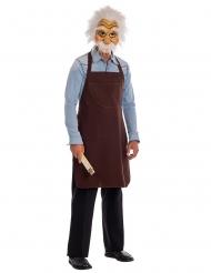 Meister Geppetto™ Holzschnitzer-Kostüm Lizenzkostüm braun-weiss-beige