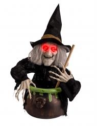 Hexen-Figur mit Licht und Sound 70 cm