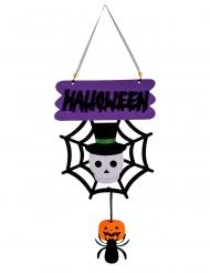 Hängedeko für Halloween mit Totenkopf und Spinne bunt 60 cm