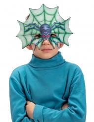 Schaurige Spinnen-Maske für Kinder Halloween-Zubehör blau-grün