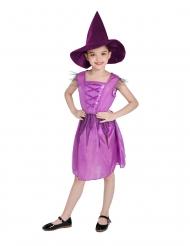 Hexenkostüm für Mädchen Halloween-Verkleidung pink-lila