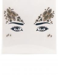 Himmlische Strass-Steine Make-up-Idee für Damen hellbraun