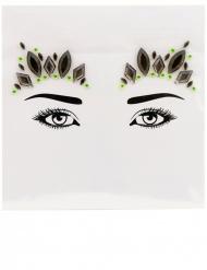 Königliches Kristall-Make-up Glitzer-Steine schwarz-grün