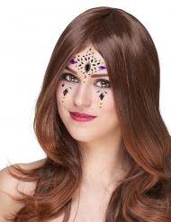 Selbstklebende Gesichtsschmucksteine Make-up-Zubehör bunt