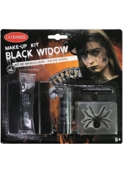 Düstere Witwe Halloween-Make-up-Set 5-teilig schwarz