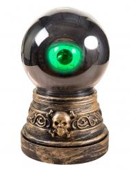 Schauriges Auge animierte Halloween-Deko gold-grün 20cm