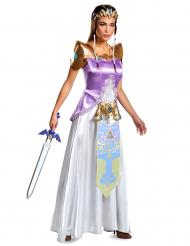 Hübsches Zelda™-Prinzessinnen-Kostüm für Fasching violett-weiss-gold