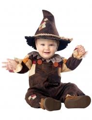 Kleine Vogelscheuche-Halloween-Kostüm für Halloween braun-orange