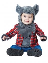 Süßes Werwolf-Kostüm für Babys rot-grau