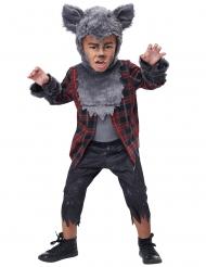 Werwolf-Kinderkostüm für Jungen Halloween-Kostüm grau-rot