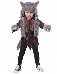Werwolf-Kostüm für Mädchen Halloween-Verkleidung grau-rot-schwarz