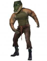 Krokodil-Kostüm für Erwachsene Halloween-Tierkostüm grün