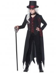 Gotisches Vampirkostüm für Mädchen schwarz-rot