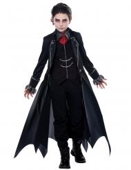 Gotisches Vampirkostüm für Jungen schwarz-grau-rot