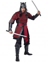 Kämpferische Samurai-Rüstung Herrenkostüm für Fasching rot-schwarz