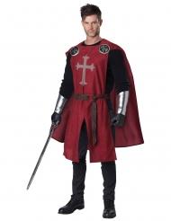 Kreuzritter-Kostüm für Herren Karneval-Verkleidung schwarz-rot