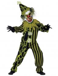 Schleimiges Horrorclown-Kostüm für Kinder grün-schwarz