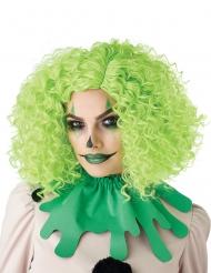 Clownperücke lockig für Damen Afro-Perücke Halloween grün