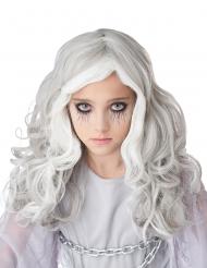 Geister-Perücke für Kinder Halloween-Accessoire weiss-grau