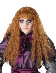 Horror-Puppe Perücke für Kinder Accessoire für Halloween Kupferfarben