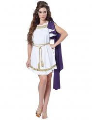 Griechisches Damenkostüm antike-Göttin Karneval weiss-lila