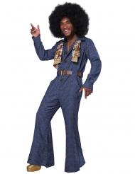Disco-Jeans-Herrenkostüm blau-braun