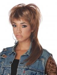 80er-Jahre Damen-Perücke für Fasching Kostüm-Accessoire braun-blond