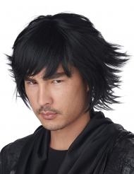 Manga Cosplay-Perücke für Erwachsene Karneval-Zubehör schwarz
