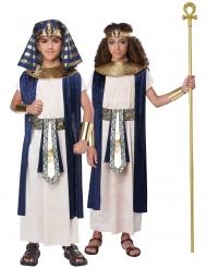 Pharaonen-Kostüm für Kinder Faschingskostüm blau-weiss-gold