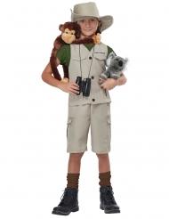 Abenteurer-Kostüm für Kinder Dschungel-Forscher beige-grün