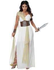 Römische Kriegerin Damenkostüm weiss-braun