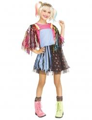 Freches Superheldin-Kostüm für Mädchen Verkleidung für Fasching bunt