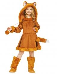 Fuchs-Kinderkostüm für Mädchen Tier-Verkleidung für Fasching rotbraun
