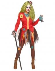 Horror Clown-Kostüm Halloween-Verkleidung für Damen bunt