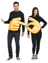Lustiges und frivoles Paarkostüm für Damen und Herren Faschings-Verkleidung schwarz-beigefarben