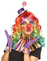 Kunterbuntes Clown-Set 3-teilig für Erwachsene Karneval bunt
