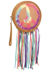 Hippie-Handtasche 60er Jahre Faschingsaccessoire bunt