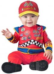 Rennfahrer Babykostüm Overall für Kleinkinder Rennsport rot-bunt