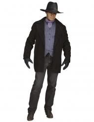 Cowboy-Videospiel-Kostüm Herren-Verkleidung für Fasching schwarz-violett