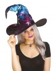 Galaxy-Hexenhut mit Sternen Kostüm-Accessoire schwarz-blau-lila