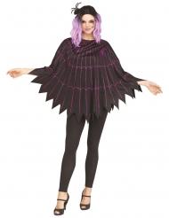 Spinnen-Cape Kostüm-Poncho für Damen schwarz-lila