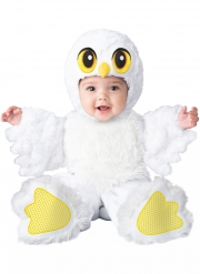 Niedliches Eulenkostüm für Kleinkinder Halloween-Verkleidung weiss-gelb