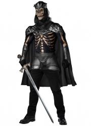 Königliches Skelett-Kostüm hochwertige Verkleidung für Halloween schwarz