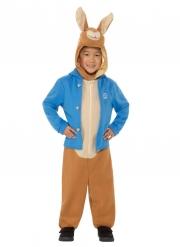 Offizielles Peter Hase™-Kostüm Kinder-Verkleidung für Fasching braun-blau