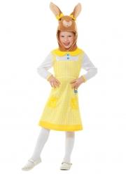 Süßes Wuschelpuschel™-Kostüm für Kinder Mädchenkostüm Peter Hase™ gelb-weiss