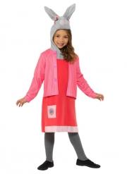 Peter Hase™ Lotta Weißfell Mädchenkostüm für Kinder pink