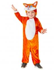 Lustiges Fuchs-Kostüm für Kinder Tier-Overall für Fasching orange-weiss